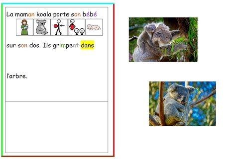 Lecture et pictogrammes, niveau 2