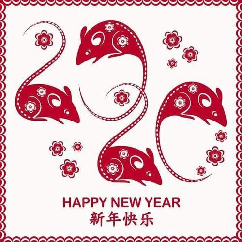 nouvel an asiatique - année du rat de métal
