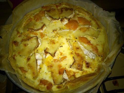 Apéro dînatoire : quiche potimarron/camembert