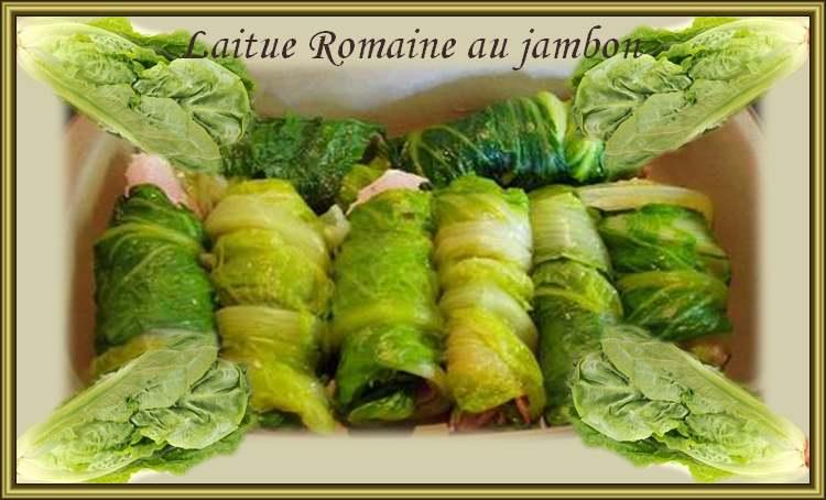 Recette de Cuisine : Laitue romaine au jambon