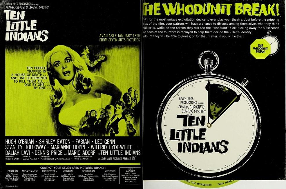 TEN LITTLE INDIANS BOX OFFICE USA 1966
