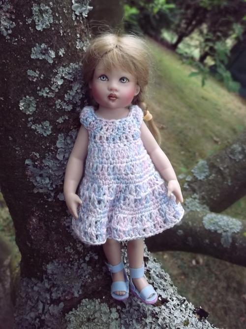 Bérénice et sa petite robe.