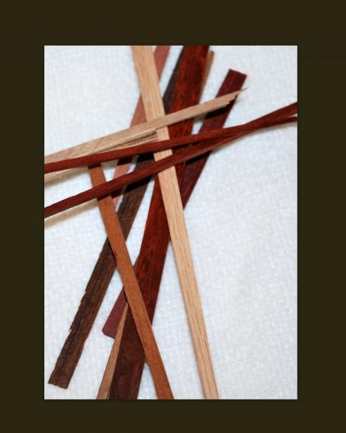 Montures de lunenettes ornées de bois