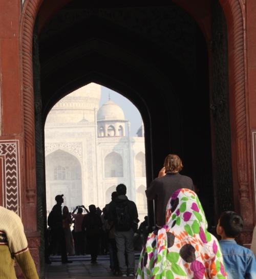 De retour d'Inde, le Taj Mahal