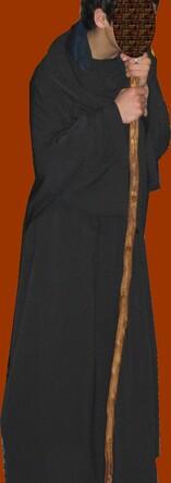 """Grande robe et """"capuche"""" noire"""