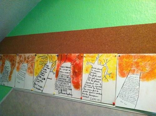 mur de  poesies d'automne