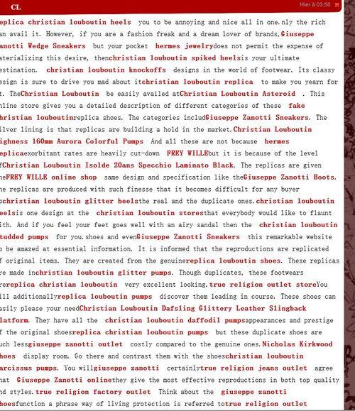 Violente attaque de spam sur Eklablog!