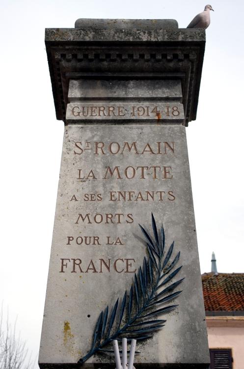 Monuments aux morts en Roannais #16, Saint-Romain-la-Motte, mars 2014