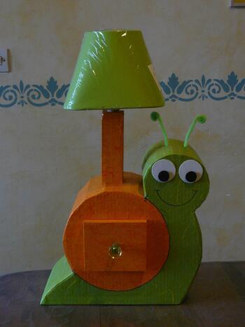 Lampe Léo l'Escargot