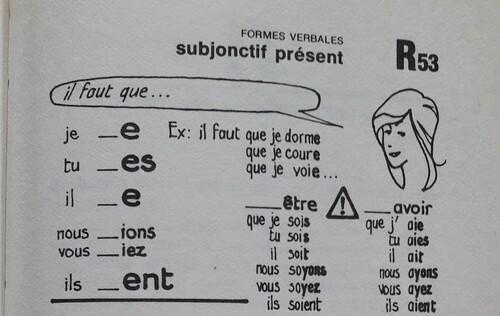 F / Le subjonctif présent
