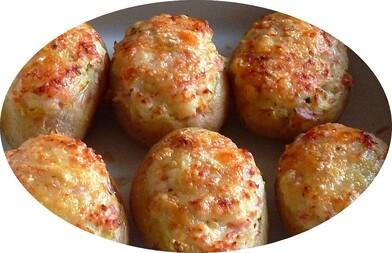 Pommes de terre farcies au fromage à raclette