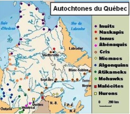 Autochones du Québec (carte)