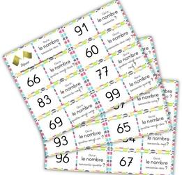 domino et jeux de loto autour des nombres de 60 à 99