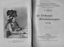 Le Tribunal révolutionnaire - 1793-1795