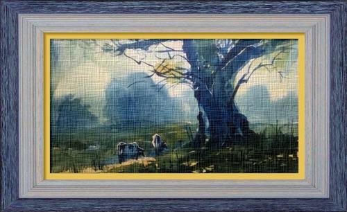 Dessin et peinture - vidéo 2447 : Peindre une aquarelle avec 2 couleurs, tout simplement.