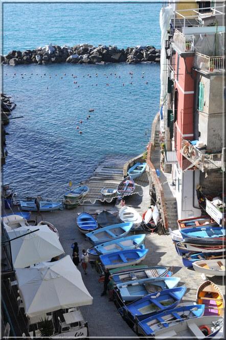 Les 5 Terres : Riomaggiore, le port