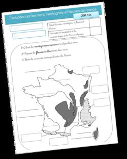 Evaluation DDM mers, montagnes, fleuves de France