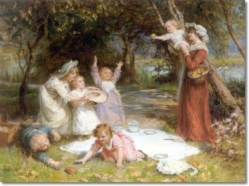 frederick-morgan-british-the-family-picnic