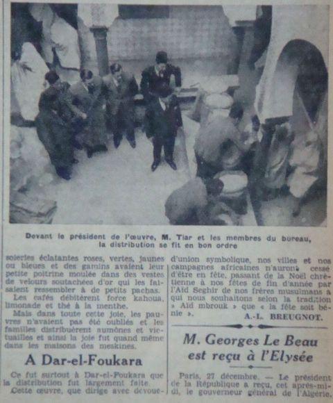 MCA aide aux nécessiteux saison1935/1936