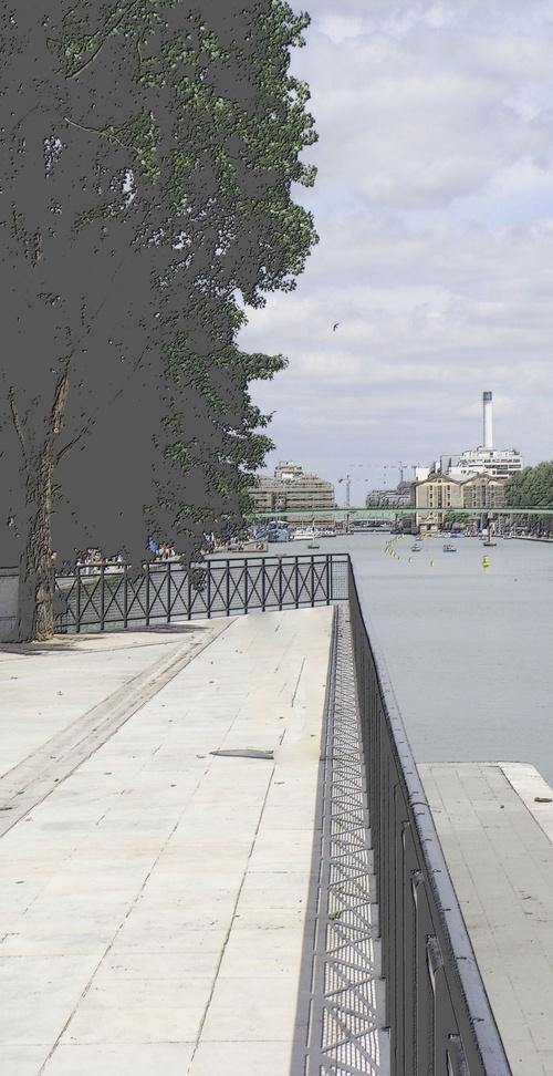 Perspective bassin de la Villette.