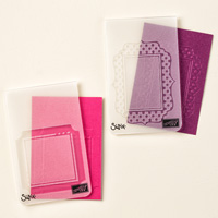 Fun Frames Textured Impressions Embossing Folders by Stampin' Up!