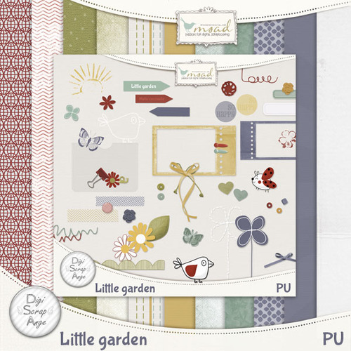 De DIGISCRAPANGE: LITTLE GARDEN