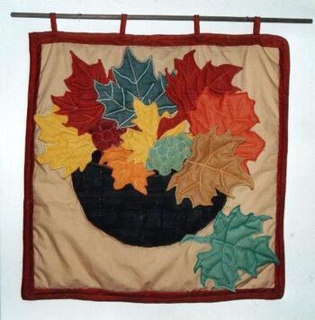 Panier de feuilles