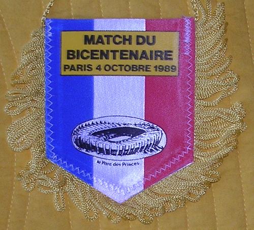 Fanion: France-Lions Britanniques (verso)
