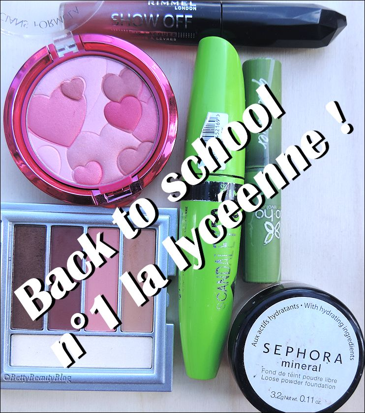 Maquillage back to school n° 1 la lycéenne