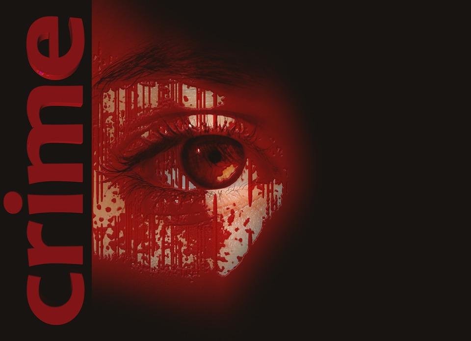Crime, Sang, Infraction, Faux Pas, Face, Œil, Noir