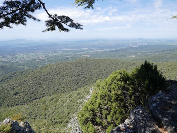 Panorama vers l'Ouest depuis l'extrémité du promontoire