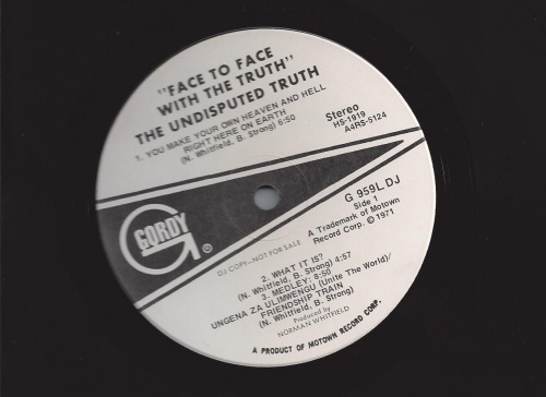 """1972: Album """" Face To Face With The Truth """" Gordy Records G 959L [ US ]"""