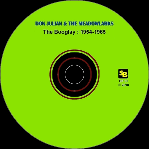 "Don Julian & The Meadowlarks : CD "" The Booglay 1954-1965 "" SB Records DP 93 [ FR ]"