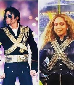 #News Beyonce s'inspire de MJ pour le Superbowl
