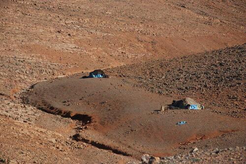 des tentes de nomades