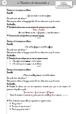 Registres de langue - CM