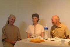 Soeur Samuel Noguet Debat, Soeur Maryline Darbellay, Marc Puissant Colloque chrétiens-bouddhistes au CTM avec Drukpa Grenoble