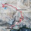 Carte itinéraire pic de Cumiadères