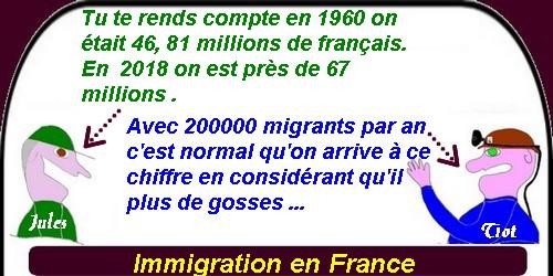 L'immigration en France s'emballe.