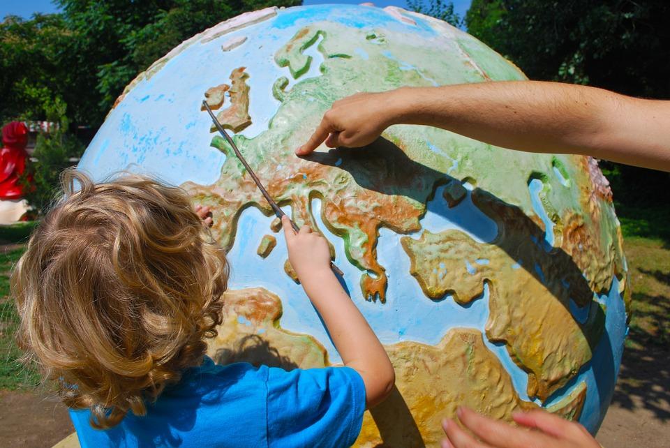 Apprentissage, Géographie, Enseignement, Enfant, Monde