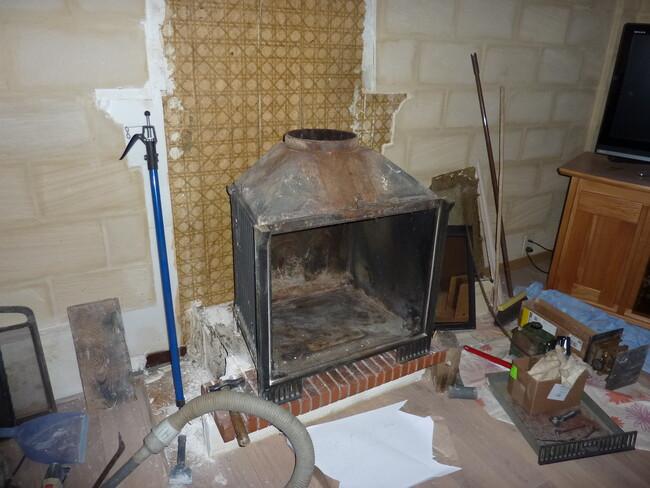 Démontage de la cheminée