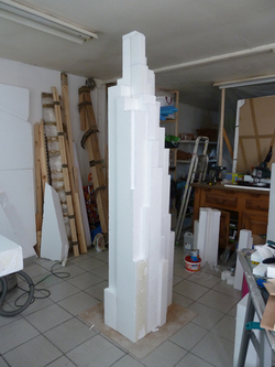 """tower#2"" sculpture, monumentalité, verticalité, building, art"