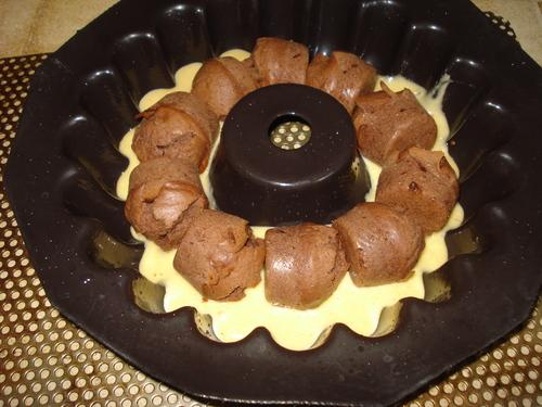 Un Gâteau caché Vanille et Chocolat