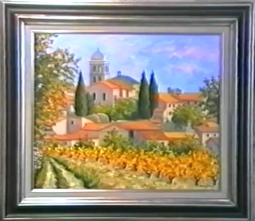 2422 : De grands peintres à découvrir - La lumiére des toiles de Paul Azema - Peinture à l'huile.