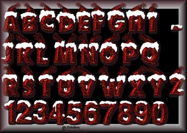 Tube alphabet de Noel 2986