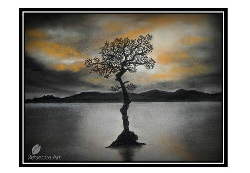 Loch Lomond Tree in pastel