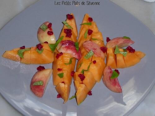 Assiette fraîcheur : melon pêche