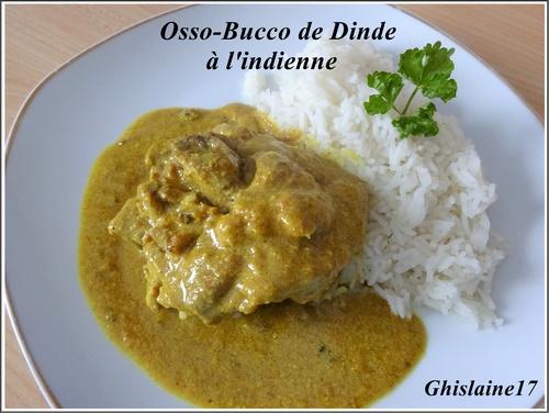 Osso-Bucco de Dinde à l'indienne