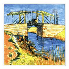 """Résultat de recherche d'images pour """"5. Le Pont De Langlois à Arles"""""""