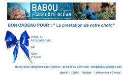 Bon cadeau Babou Côté Océan - Cliquer pour agrandir